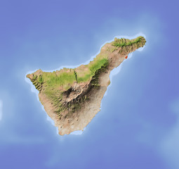 Tenerife, shaded relief map