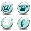 Vektorset Kommunikation Button