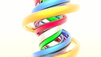 abstract 3d spiral