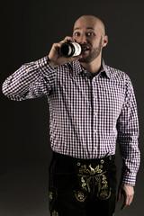 Bayer mit Bier und Lederhose