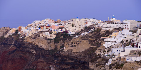 Oia, Santorini in the early morning hours