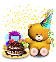 Orso Compleanno-Teddy Bear Birthday-Anniversaire Ourson