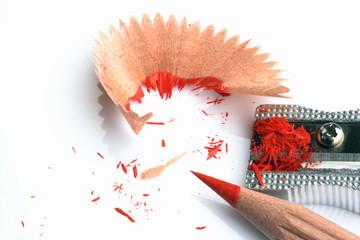 temperino con matita rossa