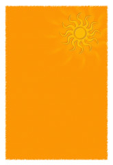 Briefpapier mit Sonne