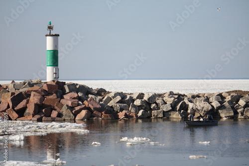 Fototapeten,fishing,bootfahren,leuchtturm,boot