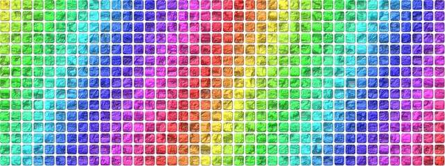 colorful structured tiles on white background