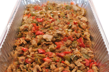 Mixed chopped meat with vegetables