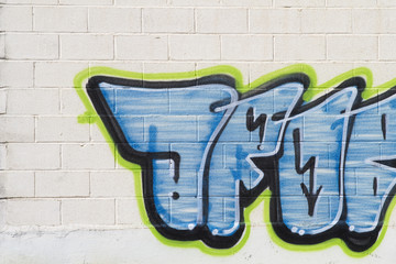 Graffiti on the wall, urban picture