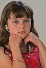 Gesicht eines junges Mädchens.