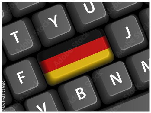 German Flag Key on Keyboard (Germany Deutschland Deutsch Vector) - 21376690