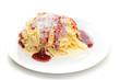 Eiscreme - Spaghettieis mit Erdbeersauce
