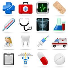 Medical icons and symbols vector set.