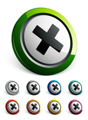 icône bouton internet croix