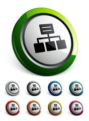 icône bouton internet réseau