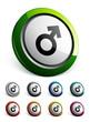 icône bouton internet homme