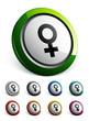 icône bouton internet femme