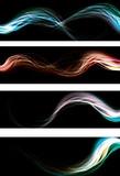 Blurry abstract neon light effect web banners. AI10 transparency poster