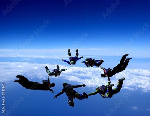 Fotobehang Extreme Sporten Sport is in sky