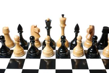Chess: black and white mix