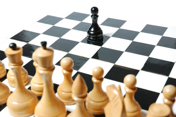Chess: confronting black pawn