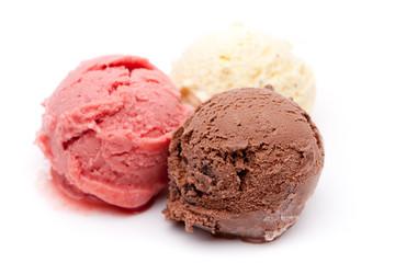 3 unterschiedliche Sorten Eis
