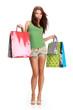 sexy shopping girl
