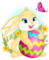 Yellow Easter rabbit