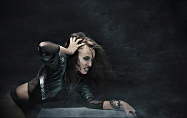 Evil rock-star woman