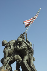 U.S. Marines corps war  Iwo Jima memorial statues