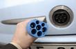 Ladekabel mit Stecker und Elektroauto Elektroantrieb für Auto
