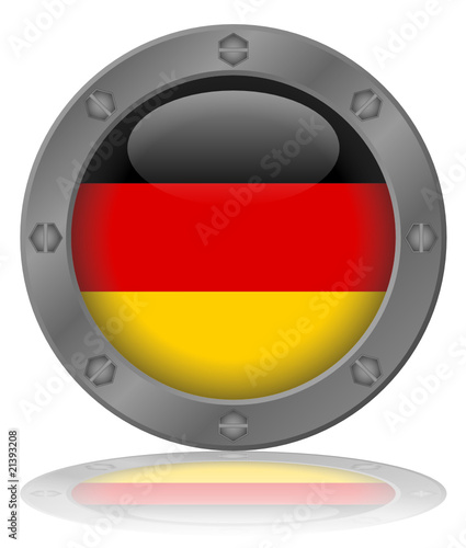 German Flag Button (Germany Deutschland Deutsch Flagge Vector)