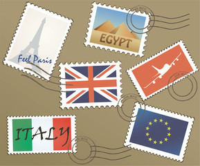 Set Of Postage Stamp