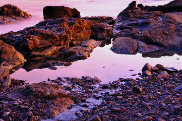 Maine Tidal Pools at sunset