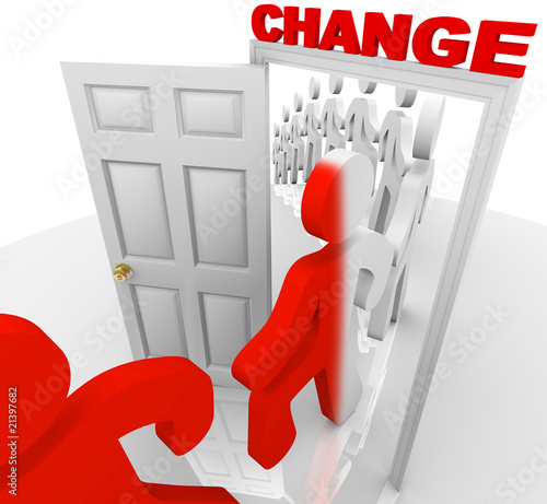 Stepping Through the Change Doorway