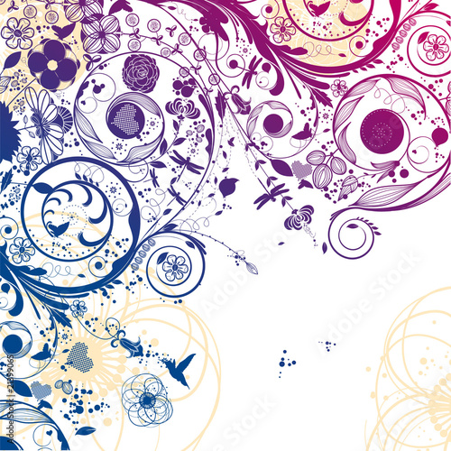 Zdjęcia na płótnie, fototapety na wymiar, obrazy na ścianę : vector flower background