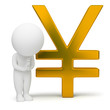3d small people - yen sign