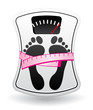 Personal bathroom scale diet concept icon