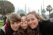 famille devant la Mosquée Bleue