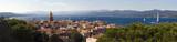 Fototapety clocher du village de Saint-Tropez en provence dans le sud de la