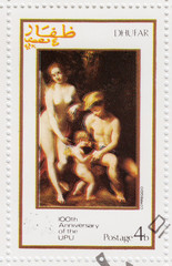 stamp pshows pic to painter Correggio