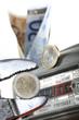 Gaszähler und Euros Erdgas Energiekosten