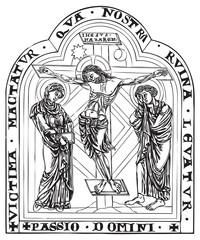 antique religious book engraving (vector)