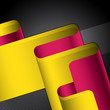 roleta: Designed stylized retro ribbon. Vector illustration.