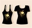 Векторный клипарт: дизайн футболки.
