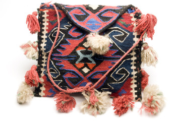 woven hand made knitted turkish kilim handbag