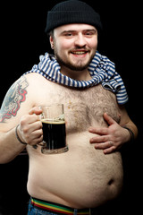 Drunk Sailor with mug of Beer