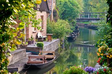 Boote im Spreewald