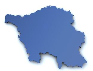 Karte von Saarland