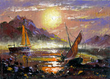 Sea landscape with sailing vessels - 21413872