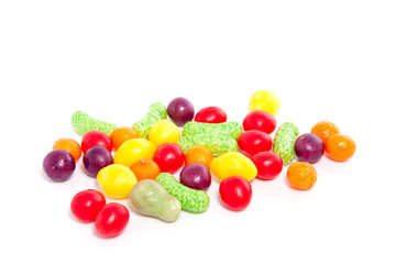 colorful old Dutch candy isolated over white